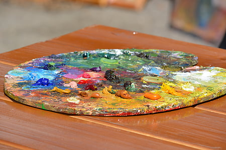 paint colors on palette