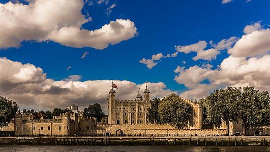 beige castle beside body of water