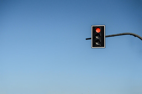 traffic light on stop signal