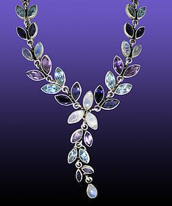multicolored gemstone necklace