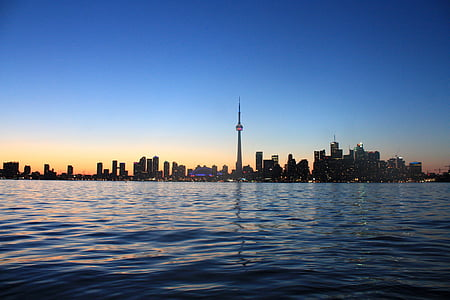 panoramic photo of city along a coastline
