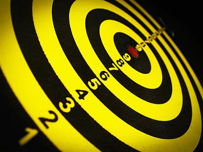 yellow and black target range