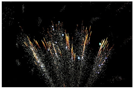 firecrackers exploding on sky