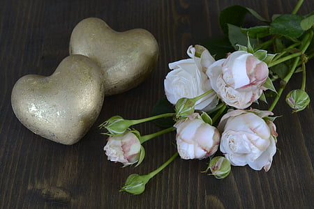 five white petaled flowers on top of brown surface