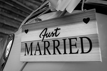 photo of Just Married wall decor