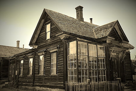 photo of black house