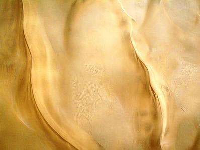 desert, sand, light and shade, rippled sand, dunes, aerial shot