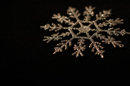 gold-colored snowflake decor