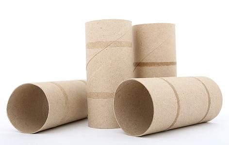 four tissue rolls