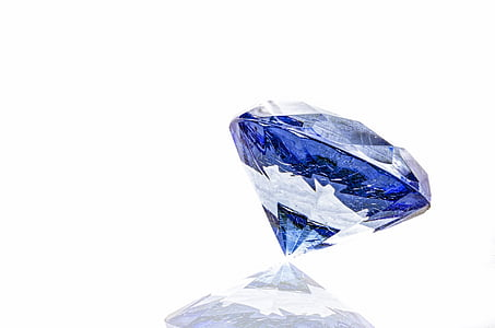 round cut blue gemstone