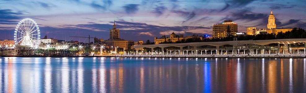 panorama photography of landmark during nighttime