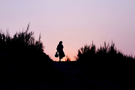silhouette of woman photo