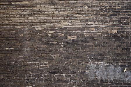 black and white concrete brick wall