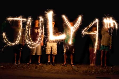 July 4th light illustration