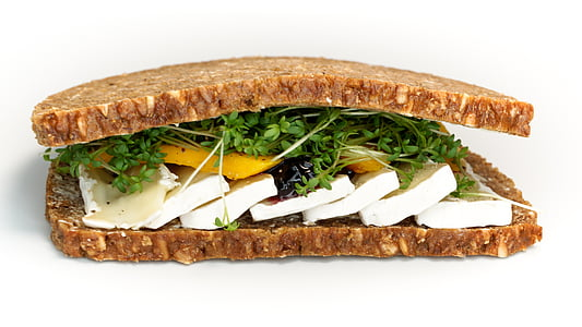 sandwich with herbs and cheese