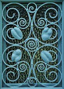 blue steel window panel