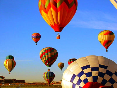 photo of assorted-color hot air balloon lot