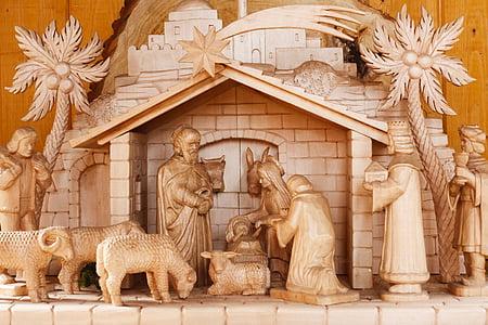 Jesus nativity scene figurine set