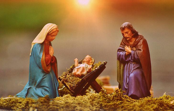 ceramic figurine of nativity scene