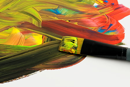 paintbrush with paint graphic wallpaper
