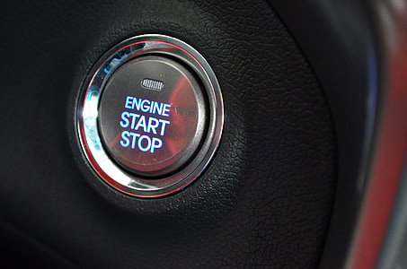 engine start stop-printed button