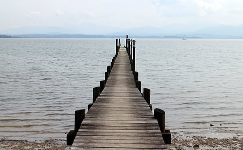 photo of gray wooden dock