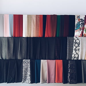 photo of assorted-color clothes