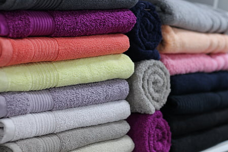assorted-color towel lot