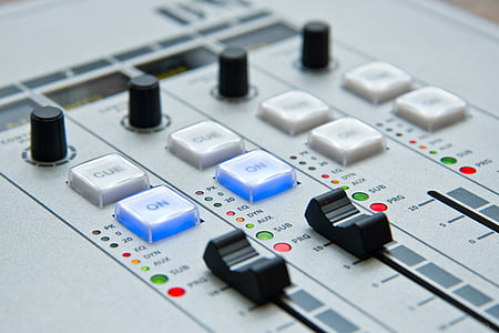 gray audio equalizer board