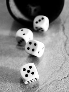 four white dice