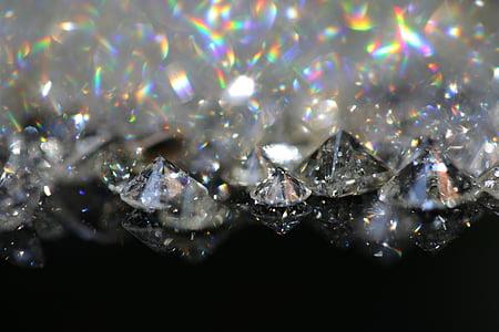 diamonds, stone, gemstone, jewel, gem, refraction