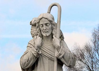 Jesus concrete statue