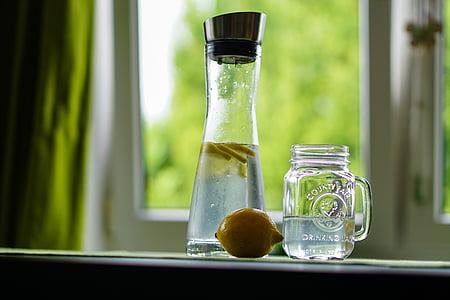 clear glass mason jar mug