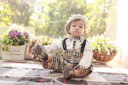 toddler posing for photo