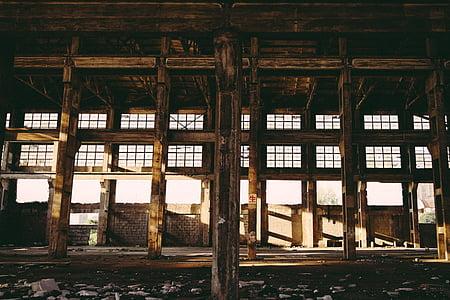 abandoned unfinished building interior taken during daytime