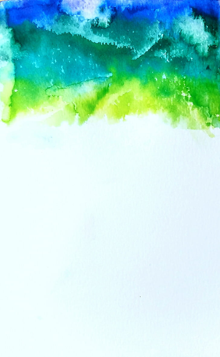 Royalty Free Photo Green Blue And Teal Abstract Painting Pickpik