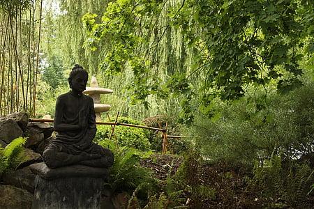 japan, zen, garden, buddha