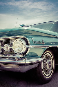 classic teal Chevy Impala