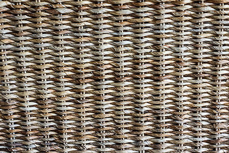 brown and white wicker surface