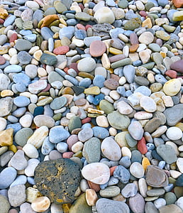 assorted-color gravel stones