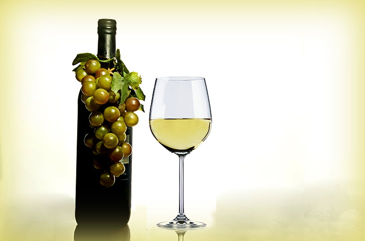 photograph of wine and fruit