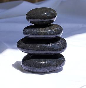 black 4-piece balance stone