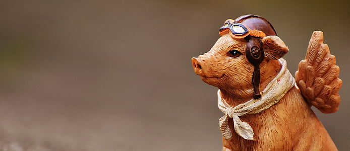 brown pig with wings collectible figure