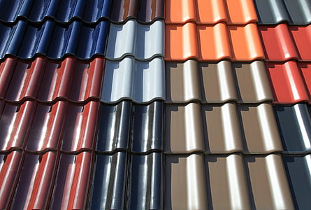 assorted-color roof bricks