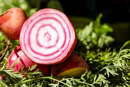 macro shot photography of sliced root crop