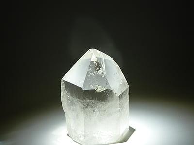 white crystal closeup photo