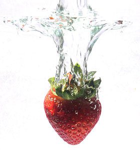 strawberry in body of water