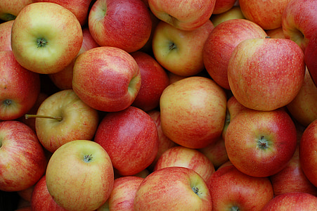 close-up photography of apple fruits