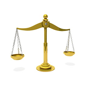 gold-colored balance scale