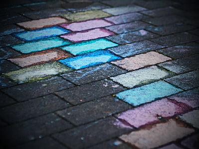 painted concrete pavement